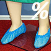 CPE-overshoes, blue / 10 pieces
