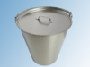 Bucket high-grade stainless steel with cover, 15 liter-volume