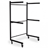 Coffin rack trolley for 3 coffins, anthracite gray