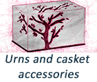 Urns and casket accessories